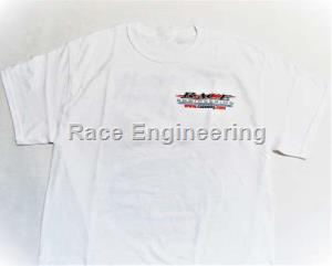 RACE ENGINEERING: WHITE T-SHIRT SMALL ALL COTTON