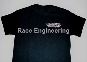 RACE ENGINEERING: BLACK T-SHIRT XXL ALL COTTON