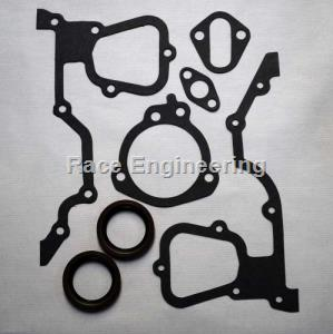 RACE ENGINEERING: FORD 2300 TIMING COVER SET-INCLUDES CRANK & AUX SEALS